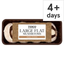 Tesco Large Flat Mushrooms 250G