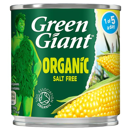 Green Giant Organic Salt Free Sweetcorn 160G