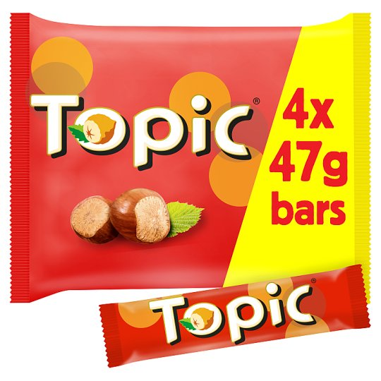 image 1 of Topic Chocolate Multipack 4 X47g