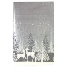 Tesco Christmas Silver Trees Table Cover 180X120cm