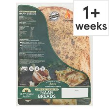 Clay Oven Bakery 2 Large Stretched Naan Bread 360G