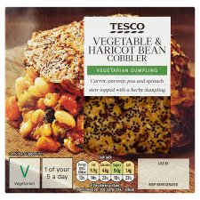 Tesco Vegetable And Haricot Bean Cobbler 200G