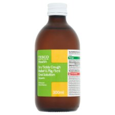 Tesco Health+ Dry Tickly Cough 300Ml