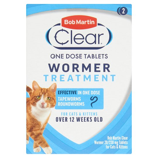 Bob Martin 2 In 1 Dewormer For Cat X2 Tabs