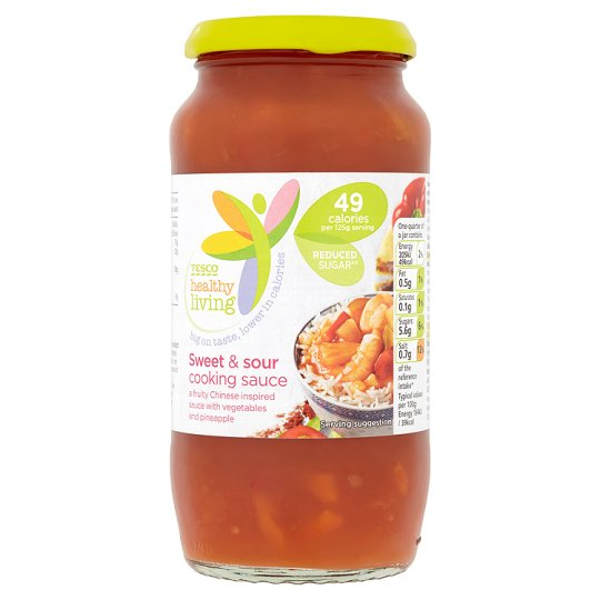 Tesco Healthy Living Sweet And Sour Cooking Sauce 500G