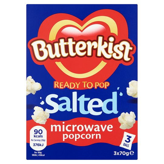 image 1 of Butterkist Salted Microwave Popcorn 3 X 70 G