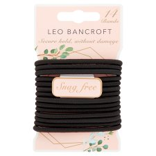 Leo Bancroft Snagfree Hairbands Black 14 Pack
