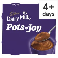 image 1 of Cadbury Dairy Milk Pots Of Joy Chocolate Dessert 4 X70g