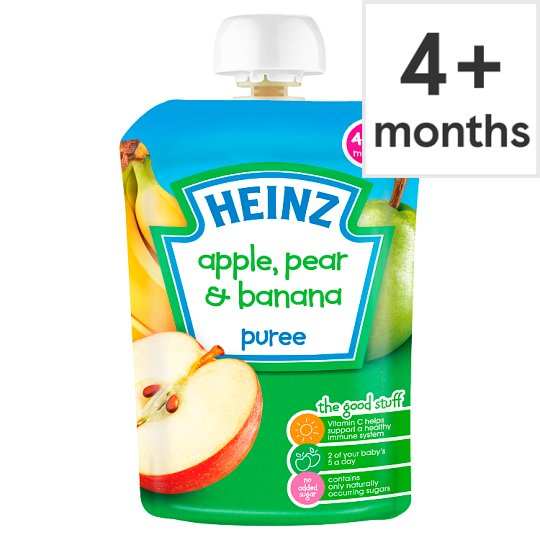 Heinz Fruit Pouch Apple Pear Banana 100G