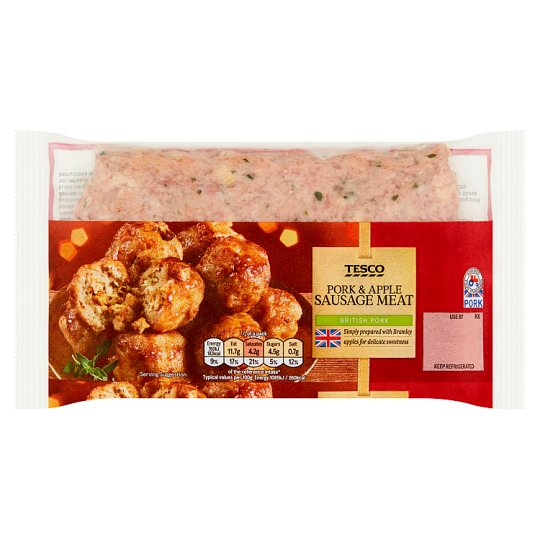 Tesco Pork And Apple Sausage Meat Stuffing 400G