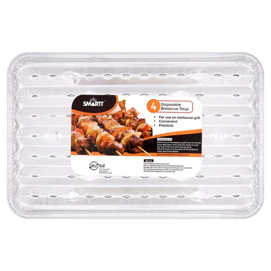 Smartt Bbq Disposable Foil Trays 4 Pack