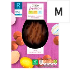 Tesco Free From Chocolate Caramel Egg With Buttons 115G