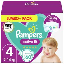 Active Fit Size 4 60 Nappies Jumbo+ Pack
