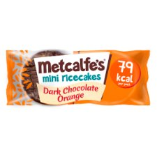 Metcalfe's Mini Rice Cakes Dark Chocolate Orange 16G