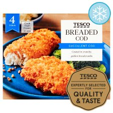 Tesco 4 Breaded Cod Fillets 500G
