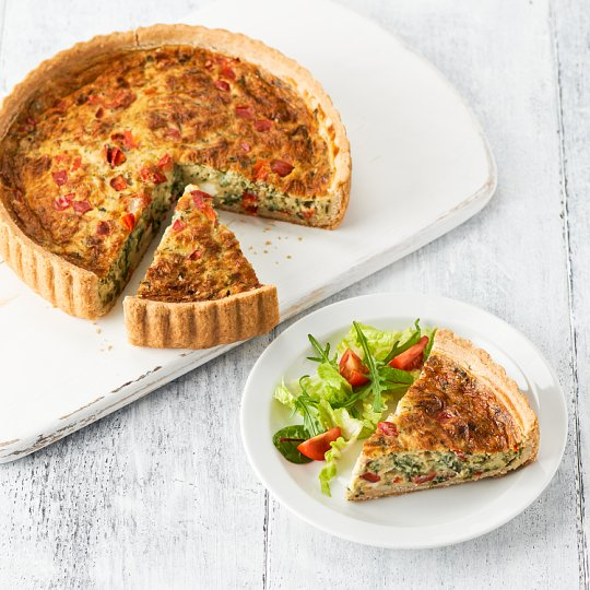 image 1 of Tesco Easy Entertaining Red Pepper, Feta & Spinach Quiche Serves 8
