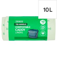 Tesco Compostable Caddy Liners 25Pk 10L