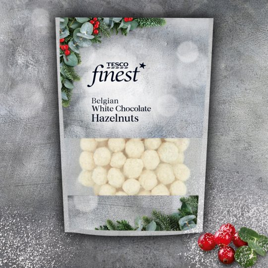 Tesco Finest White Chocolate And Coconut Hazelnuts 200G