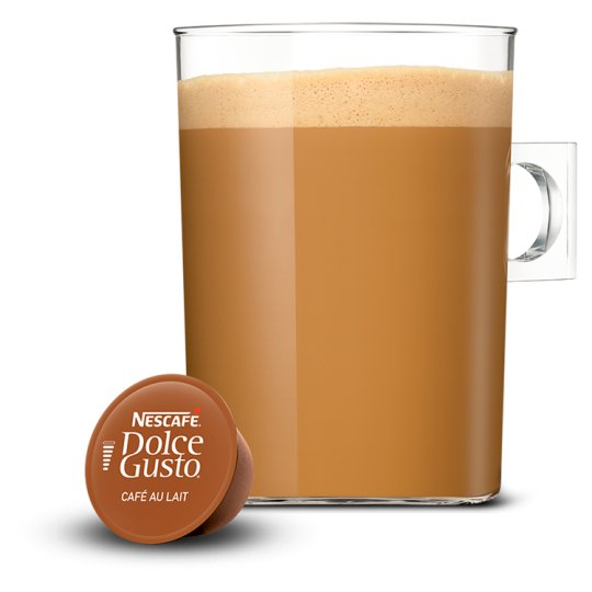 nescafe dolce gusto cafe au lait coffee pods 30 capsules groceries tesco groceries. Black Bedroom Furniture Sets. Home Design Ideas