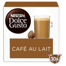 Nescafe Dolce Gusto Cafe Au Lait Coffee Pods 30 Capsules
