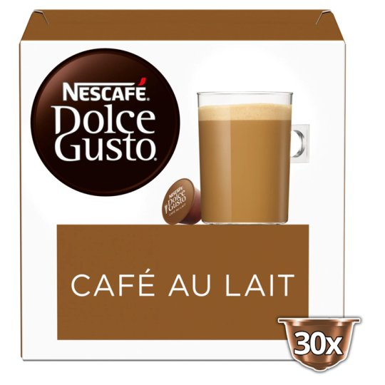 nescafe dolce gusto cafe au lait 30s 300g groceries tesco groceries. Black Bedroom Furniture Sets. Home Design Ideas