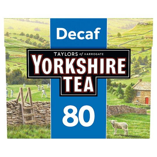 Yorkshire Decaffeinated 80 Teabags 250G