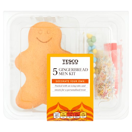 Tesco Decorate Your Own Gingerbread Men 5 Pack