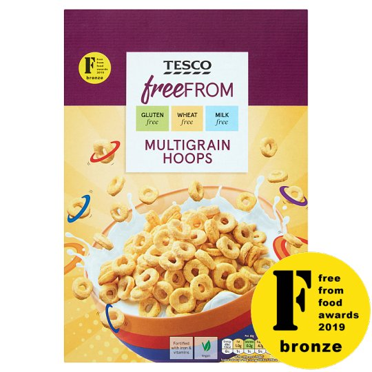 Tesco Free From Multigrain Hoops 300G