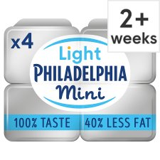 Philadelphia Light Soft Cheese Snack Pack 4 X35g