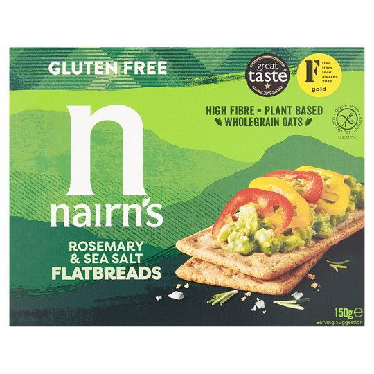 Nairns Gluten Free Rosemary And Sea Salt Flatbreads 150G
