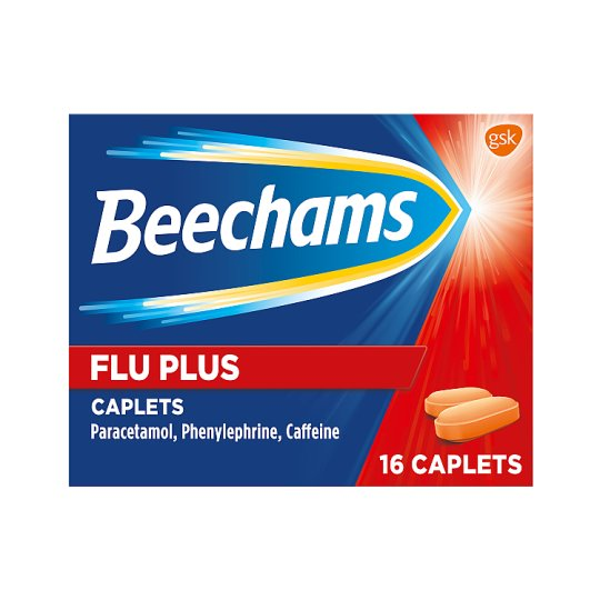 image 1 of Beechams Flu Plus Caplets 16S