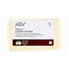 Tesco Finest Mature English Cheddar 350G
