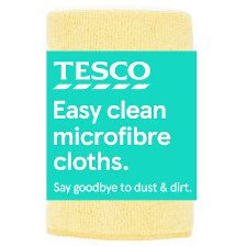 Tesco Microfibre Cloth 4 Pack