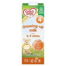 Cow And Gate 4 Growing Up Milk 2+ Years 1Ltr Ready To Feed