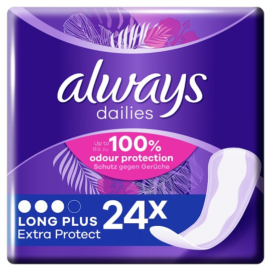 image 1 of Always Dailies Extra Protect Long Plus Panty Liners 24 Pack