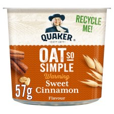 Quaker Oat So Simple Sweet Cinnamon Porridge Pot 57G