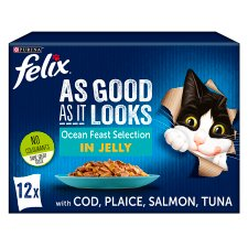 Felix As Good As It Looks Cat Food Ocean Feasts 12X100g