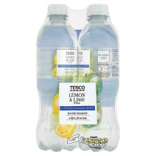 Tesco Lemon And Lime Flavoured Still Water 4X500ml