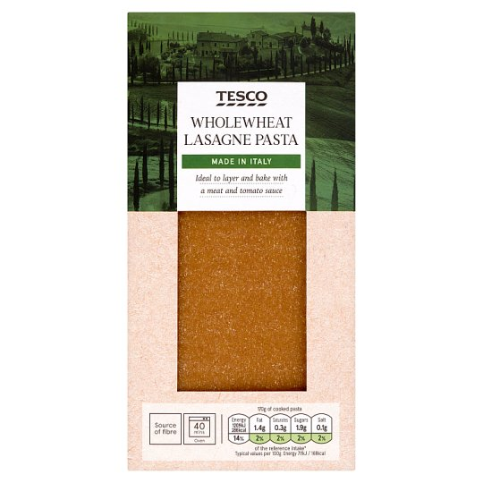 Tesco Lasagne Whole Wheat Pasta 500G