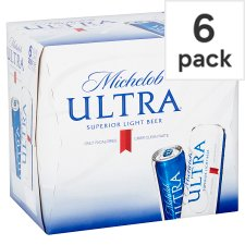 Michelob Ultra Superior Light Beer 6X355ml