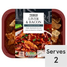 Tesco Liver And Bacon 450G