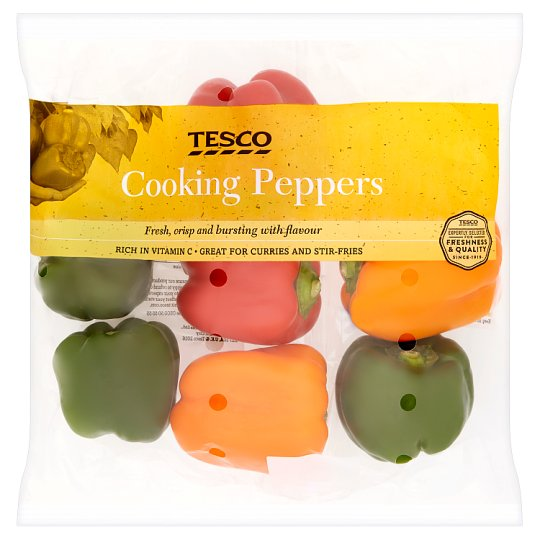 image 1 of Tesco Cooking Peppers 600G