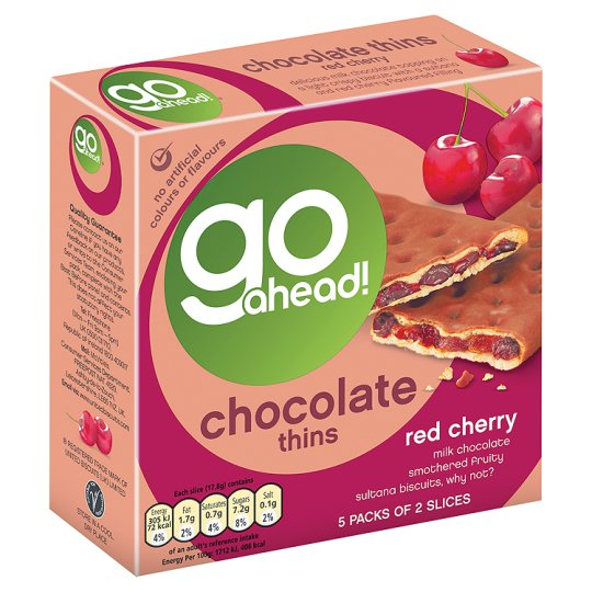 Go Ahead Chocolate Thins Cherry 5 Pack