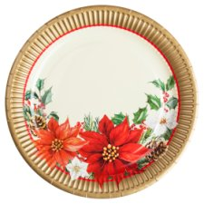 Tesco Christmas Poinsettia Plate