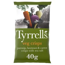 Tyrrells Mixed Root Vegetable Crisps 40 G