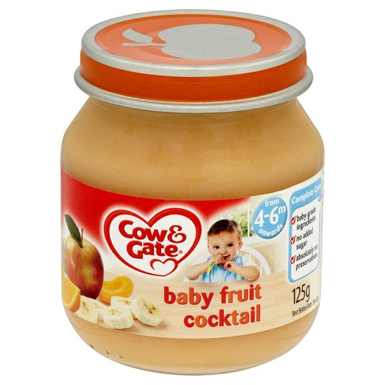 Cow And Gate Baby Fruit Cocktail Jar 125G 4 Mth+