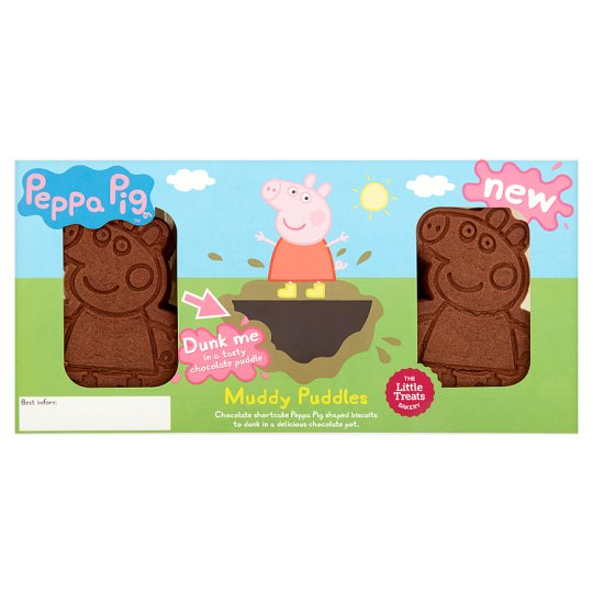 Peppa Pig Muddy Puddles Chocolate Biscuit 8pk Tesco Groceries