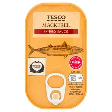 Tesco Mackerel In Bbq Sauce 125G