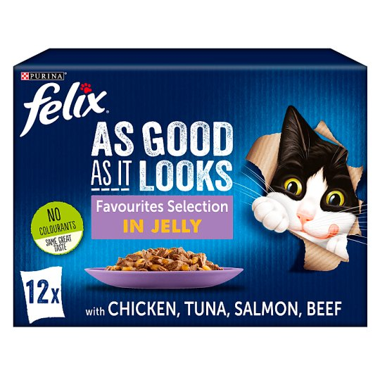 image 1 of Felix Good As Favourites Selection In Jelly 12X100g