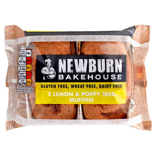 Warburtons Lemon And Poppyseed Muffins 2 Pack